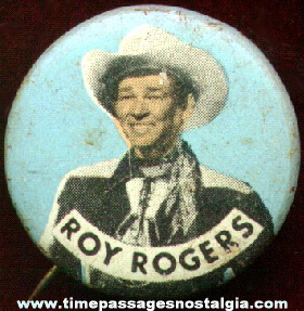 Roy Rogers Pin Back Button