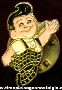 Enameled Big Boy Restaurant Advertising Pin
