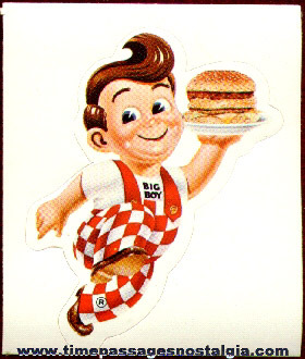 Big Boy Restaurant Advertising Character Premium Sticker