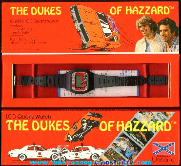 �1981 Unused Boxed Dukes Of Hazzard Digital Watch