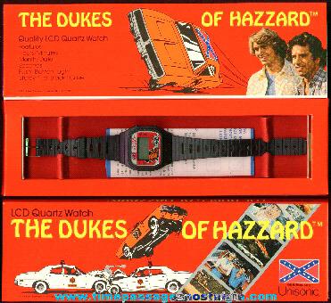 ©1981 Unused Boxed Dukes Of Hazzard Digital Watch
