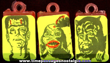 (3) Old Gum Ball Machine Monster Charms