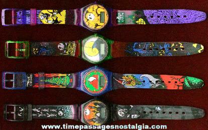 (4) Different Tim Burton Nightmare Before Christmas Character Wrist Watches