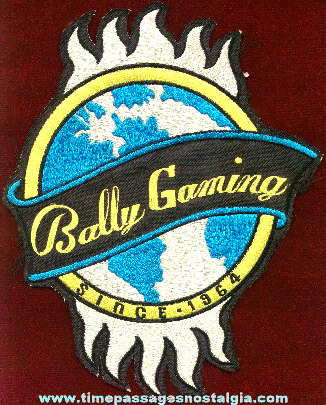Large Embroidered Bally Gaming Employee Jacket Patch