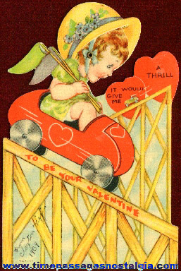1939 Roller Coaster Mechanical Valentine
