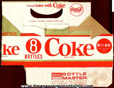 Empty 1950's Coca-Cola 8-Bottle Carton
