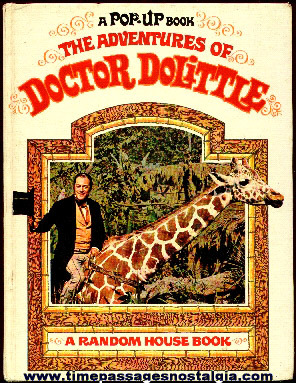 "Old ""The Adventures Of Doctor Dolittle"" Character Pop-Up Book"