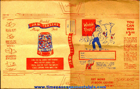 Old Jaw Teasers Gum Ball Advertising Premium Book Cover