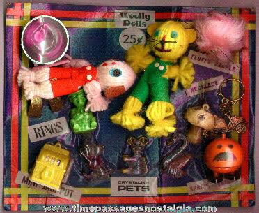 1970's Gum Ball Machine Prize Header Display Card