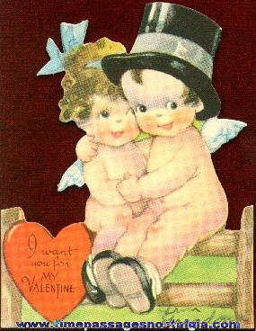 1930's Kewpie Doll Character Valentine