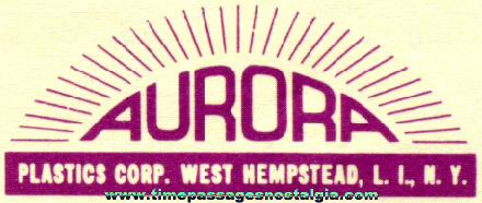 (11) 1950's Aurora Model Kit Instruction Sheets