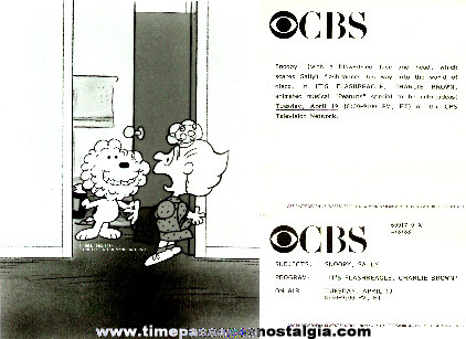 "�1988 ""It's Flashbeagle, Charlie Brown"" CBS Promotional Photograph With Paper"