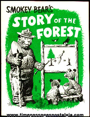 """Old """"Smokey Bear's Story Of The Forest"""" Booklet"""