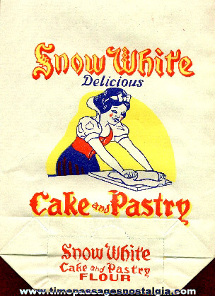 Old Snow White Advertising Flour Bag