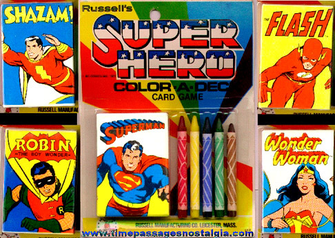 (5 Different) Mint In Packages Super Hero Color-A-Deck Card Games