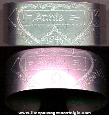 WWII Souvenir Sweetheart Bracelet