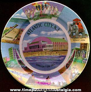 Old Atlantic City (N.J.) Souvenir China Plate
