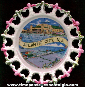 Old Atlantic City (N.J.) Souvenir China Plate