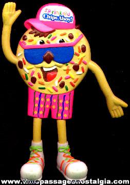 Sprinkled Chips Ahoy Advertising Character Bendy Figure