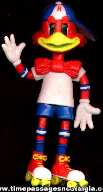 Old Red Robin Restaurant Advertising Character Toy Bendy Figure