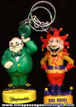 (2) Different Character Advertising Las Vegas Casino Key Chains