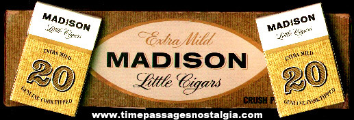 Madison Little Cigars Carton and (10) Empty Box Packs