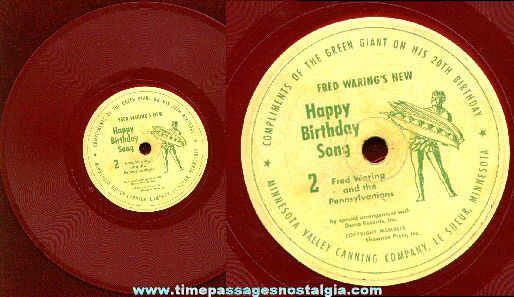 ©1949 Jolly Green Giant 20th Birthday Decca Red Vinyl Record