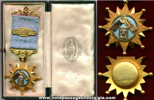 1932 Gold Yarborough - 551 Medal In It's Original Presentation Case