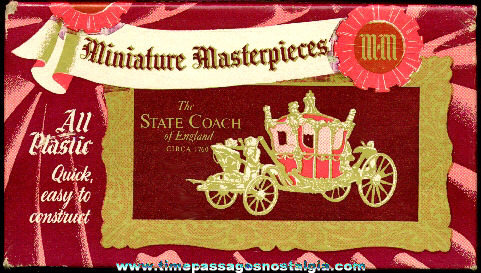 Unbuilt Miniature Masterpieces State Coach Model Of England