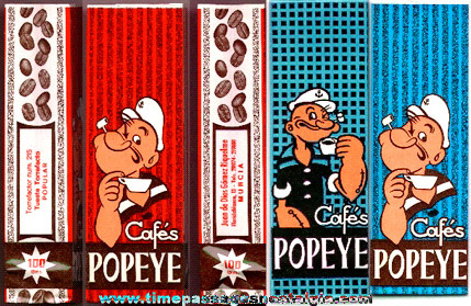 (3) Different Unused Popeye Coffee Bags