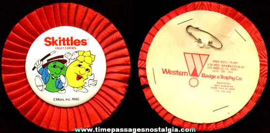 MARS / Skittles Fruit Chews Candy Promotional Advertising Ribbon Badge