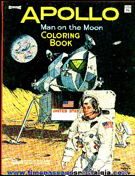 Mint Uncolored 1969 Apollo / Man On The Moon Coloring Book
