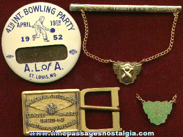 (3) Nice Old Bowling Award Items
