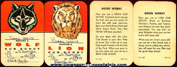 Old Lion And A Wolf Cub Scout Cards
