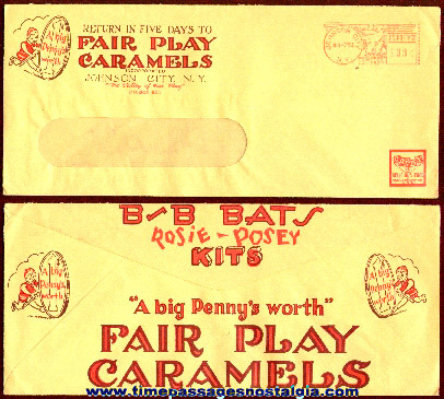 1953 Graphic Candy Company Advertising Envelope