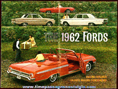 1962 Ford Cars Promotional Brochure / Poster