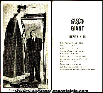 Giant Card Premium From Wilson - Sinclair Meats