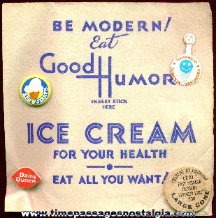 (5) Ice Cream Advertising Items