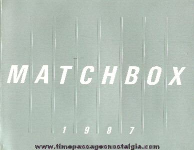 1987 Matchbox Book