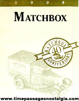1990 40th Anniversary Matchbox Book