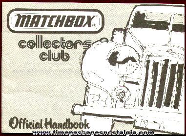 "1980 Matchbox Collectors Club ""Official Handbook"""