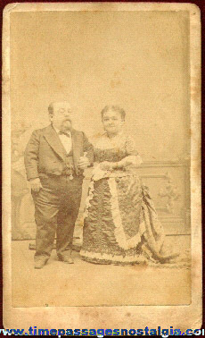 Early General Tom Thumb & Wife Midget Photograph Card