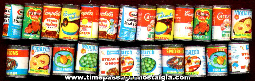 (24) Doll House Miniature Canned Food Products