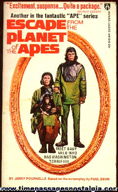 "�1974 ""ESCAPE FROM THE PLANET OF THE APES"" Paperback Book"