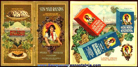 Old Sun-Maid Raisins Advertising Premium Recipe Book
