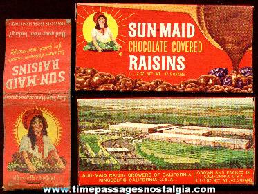 (2) Old Sun-Maid Raisin Advertising Items