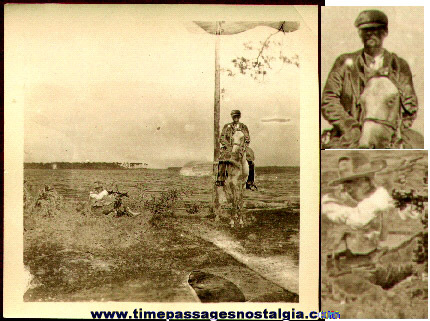 Very Unusual Old Photograph Of A Man About To Get Shot!
