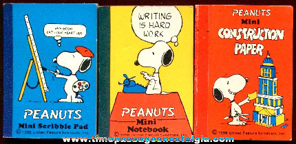 (3) Snoopy Character Miniature Books