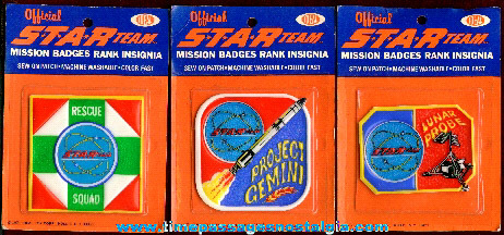 (3) Old Unopened Official STAR TEAM Mission Badges & Rank Insignia