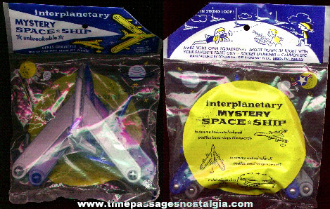 Old Unopened Package Of (2) Interplanetary Mystery Space Ships